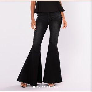 Fashion Nova Baby Don't Go Boot Jeans